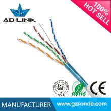 Fabriqué en Chine câble de réseau solide cuivre nu ftp cat5e câble torsadé avec CE RoHs FCC UL Certifications