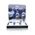 Werbung Acryl Wein Display Stand, Pop Zähler Display Rack