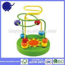 Colorful Wooden Toy Bead Maze block