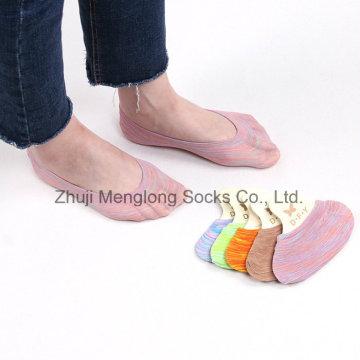 Meias de corte de arco-íris lindo padrão mulheres baixo invisível