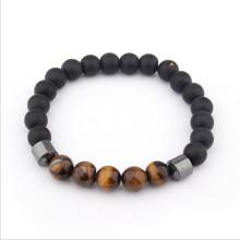Beads Black Onyx Grind arenaceous Bracelet