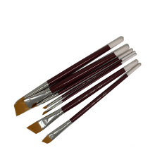 Factory Wholesale  Painting Tools 7 Piece Nylon Hair Watercolor Brush Set For Artist