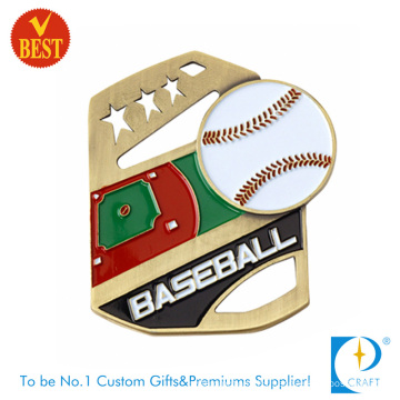 Design Iron Baking Varnish Hollow out Baseball Medal at Factory Price