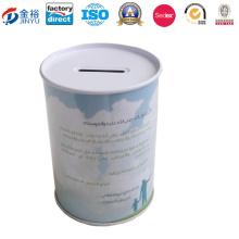 Conjunto de lata de moeda pequena não pode abrir tampa