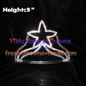 3inch Height Crystal Star Tiaras