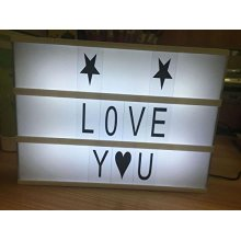 Segno di Cinema Light Box lettere