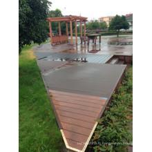 Plancher en composite de WPC de vinyle de plancher de remodelage extérieur de bâtiment extérieur