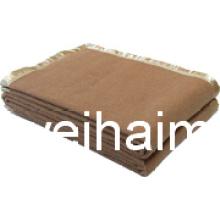 50%Wool/50%polyester mezcla tejida lana Hotel manta