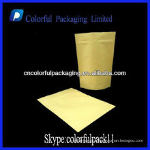 Kraft Foil Lined Doypack For Ground Coffee Packing