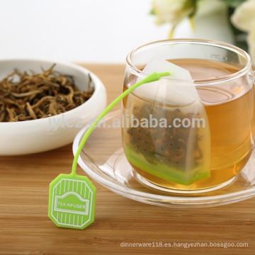 Venta caliente nueva hoja de diseño forma de colador de té de silicona