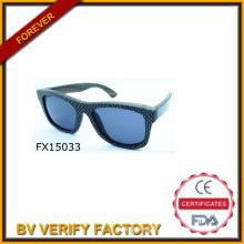 2015 la main lunettes noires en bois (FX15033)