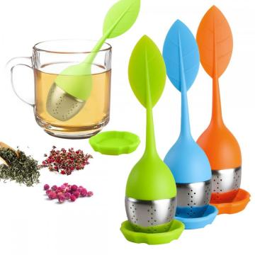 Colador de infusor de té de hojas sueltas para tetera