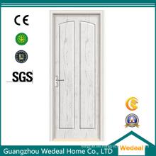 Puerta de madera maciza blanca imprimada para uso interior / exterior