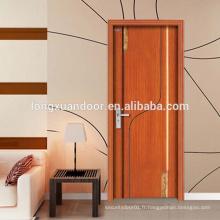 Portes d'entrée en bois massif / Prix de porte en bois massif à Guangzhou