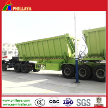 Hydraulic Tipping Truck Semi Trailer with U Shaped Dumper Body