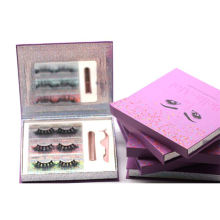 3D067H Hitomi Mink Lashes And Custom Package soft natural mink eyelashes Fluffy Magnetic Eyelashes with Eyeliner and tweezers