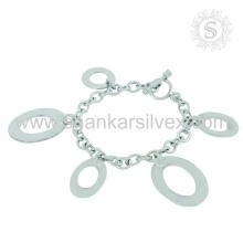 Plain Silver Bracelet Manufacturing 925 Silver Jewelry India