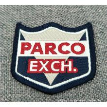 Etiqueta tecida privada do vestuário feito sob encomenda da roupa do corte do laser