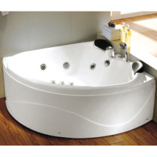 Two Person Small Size Bathtubs 1300X1300mm Triangle Massage Bathtub
