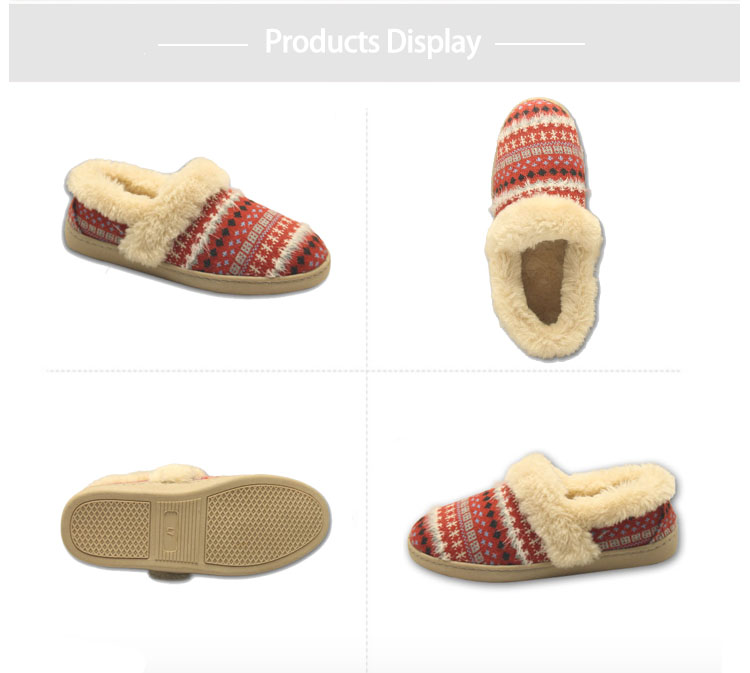 soft christmas furry house slippers for womens