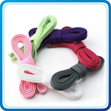 Custom Colorful Shoelace with Plastic Clip for Football Match