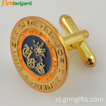 Gold Customized Cufflink Metal Untuk Dekorasi