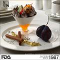 Venta al por mayor porcelana blanca ensalada tazón conjunto hotel restaurante cerámica fruta tazón mango forma porcelana cerámica cena ensalada tazón