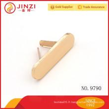 Étiquette en métal rond en forme ovale