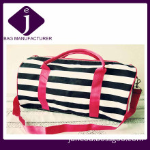 Fashion Printed Mix Strips Canvas Tote Bags, Lady Bags
