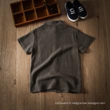 hign qualité été casual vêtements pour enfants gris et blanc t-shirt pour les garçons de 3 à 8 ans