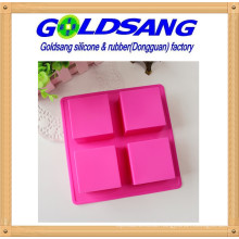 4 Square Silicone Handmake Soap Mold &Cake Mold