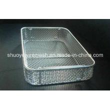 Panier de stérilisation de treillis métallique / de grillage / plateau médical d'autoclave