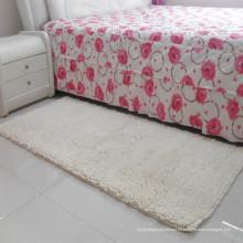 mesita de noche blanca, peluda, alfombra de oración para la sala de estar