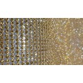 Hot fix rhinestone Aluminum mesh 45*120