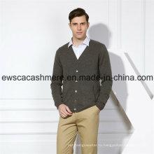 Жесткий мужской сплошной Цвет чистый кашемир свитер