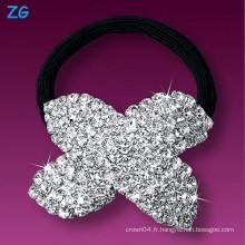 Bandeau de mariage en strass en cristal de haute qualité, bande de cheveux française, bande de cheveux en strass pour dames