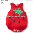 Cute summer toddler girl clothes strawberry printed baby girl fruit baby romper wholesale