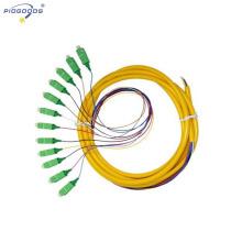 Conector 12cc de la PC de la fibra óptica de la coleta de la fibra óptica arrinconada, solo modo