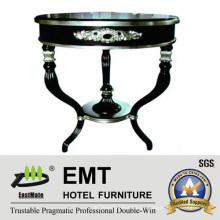 Mesa de café profissional de madeira sólida de folha de prata (EMT-CT12)