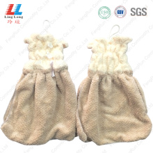Clothes style absorbent hand use towel