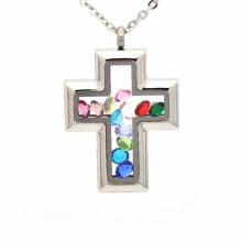 Мода кристалл шейкер стеклянный крест бутылка медальон кулон ювелирные изделия