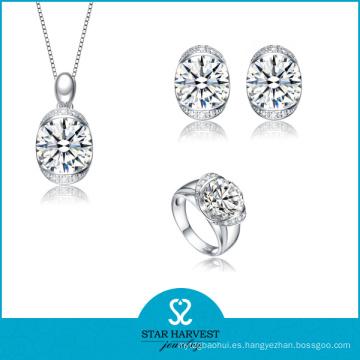 Joyería blanca de la plata esterlina del Zirconia cúbico 925 para las mujeres (SH-J0108)