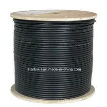 High End CAT6A UTP LAN Cable 10 Gigabit Black