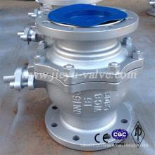 Válvula de esfera de aço carbono Pn16-Pn64 Tipo de flange