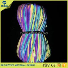 Tubería reflectante del arco iris de la alta visibilidad para la ropa