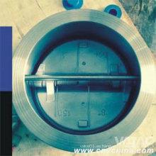 Válvula de retención de chapa doble tipo cuerpo de acero fundido
