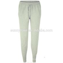 Pantalones de cachemira tejidos a máquina de la moda delgada del fabricante