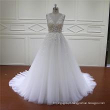 Preço de atacado HD002 muito Ruffle nupcial vestido de noiva 2016