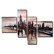 Peinture à l'huile moderne de mur d'art de bâtiment