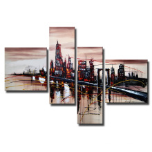 Modern Wall Art Building Oil Painting